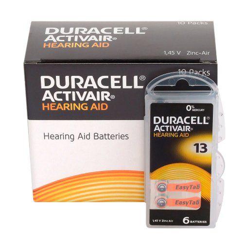 Bateria Para Aparelho Auditivo DURACELL 13 / PR48 - Mercury Free ActivAir