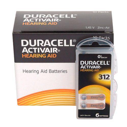 Bateria Para Aparelho Auditivo DURACELL 312 / PR41 - Mercury Free ActivAir