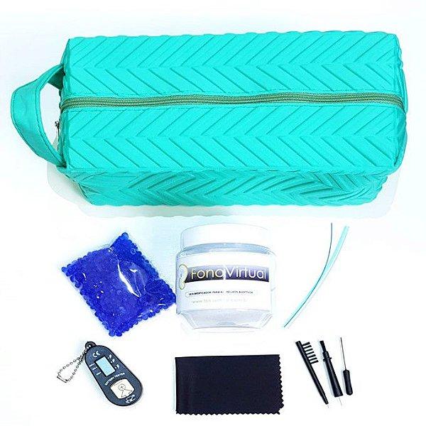 Kit básico de manutenção e limpeza para aparelho auditivo intra-auricular