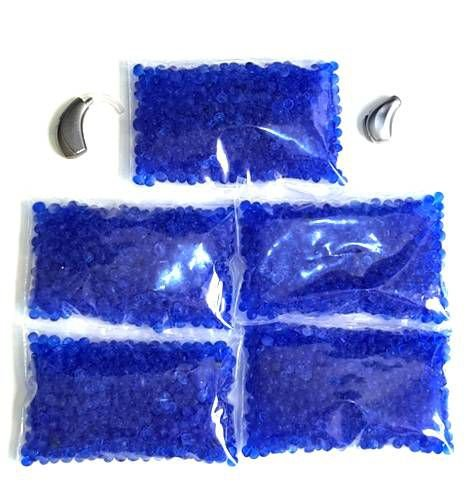 Desumidificador Para Aparelho Auditivo - Refil Sílica Gel Azul - 05 Refis