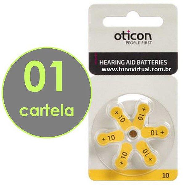 06 Baterias OTICON 10 / PR70 - Para Aparelho Auditivo