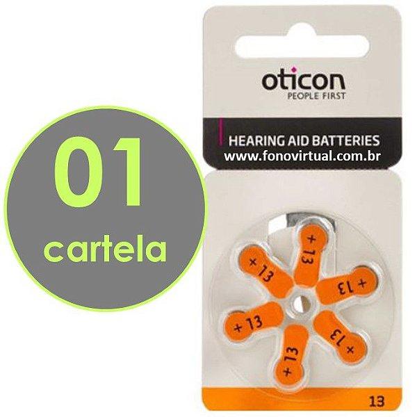 06 Baterias OTICON 13 / PR48 - Para Aparelho Auditivo