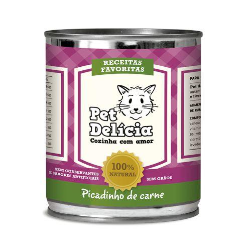 Ração Úmida Para Gatos Pet Delícia Picadinho de Carne 320g