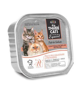 Ração Úmida para Gatos Three Cats Patê de Salmão 90g