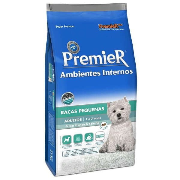 Ração Para Cachorro Premier Raças Pequenas Frango e Salmão 2,5kg
