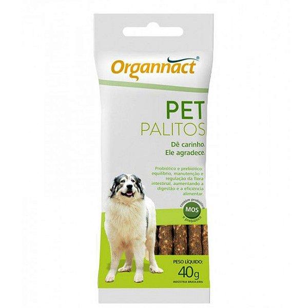 Ossinho Para Cachorro Organnact Pet Palitos 40g