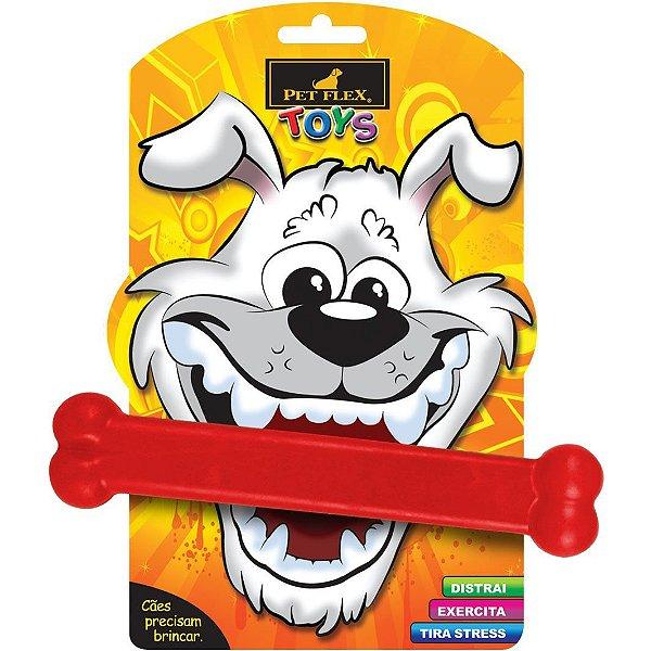 Brinquedos Para Cachorro Osso Grande Pet Flex Vermelho