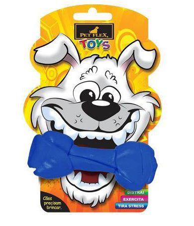 Brinquedos Para Cachorro Osso Mordedor Pet Flex Azul P