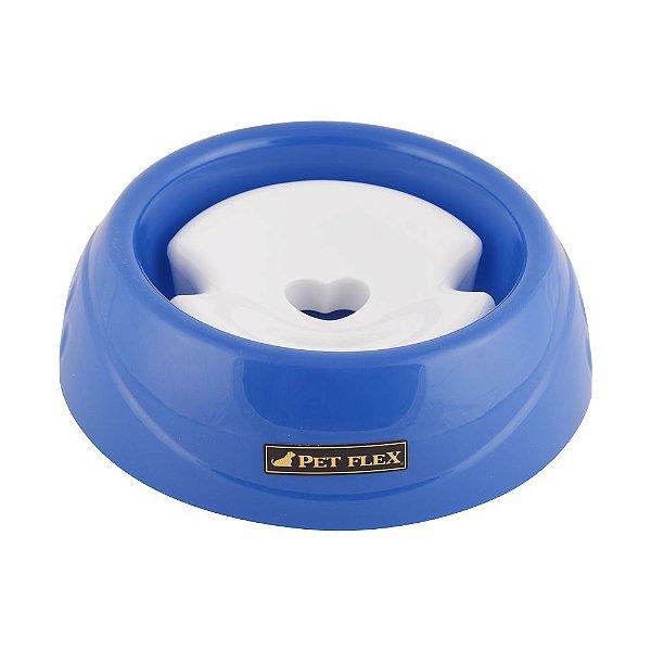 Bebedouro Para Cachorro Especial Pelo Longo Pet Flex Azul