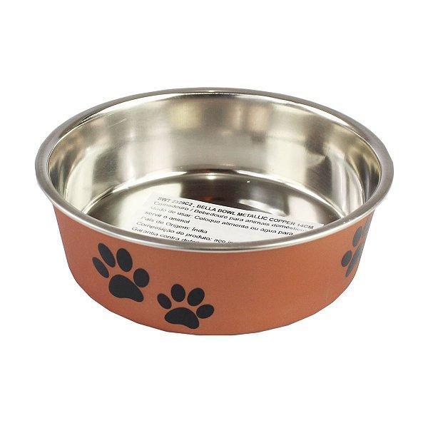 Comedouro Bebedouro Bella Bowl 14cm Loving Pets Copper