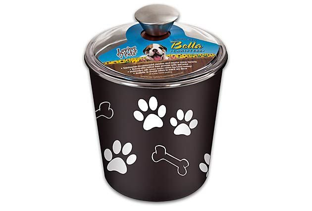 Porta Petisco Container Bella Canister Loving Pets Expresso 16cm