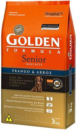 Ração Golden Formula Senior Frango e Arroz Mini Bits