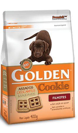 Biscoito Petisco Golden Cookie Para Cães Filhotes