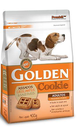 Biscoito Petisco Golden Cookie Para Cães Adultos Pequeno Porte