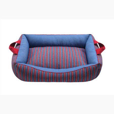 Cama Para Cachorro Confort Vermeho e Azul G