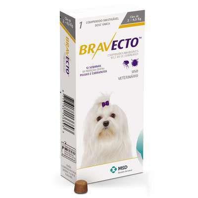 Antipulgas e Carrapatos Bravecto para Cães Até 4,5 kg