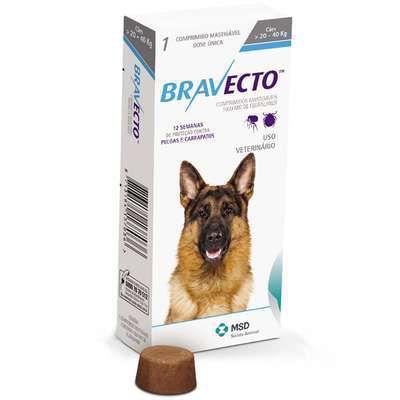 Antipulgas e Carrapatos Bravecto para Cães 20 a 40 kg