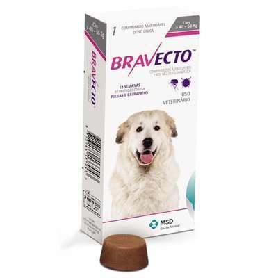Antipulgas e Carrapatos Bravecto para Cães 40 a 56 kg