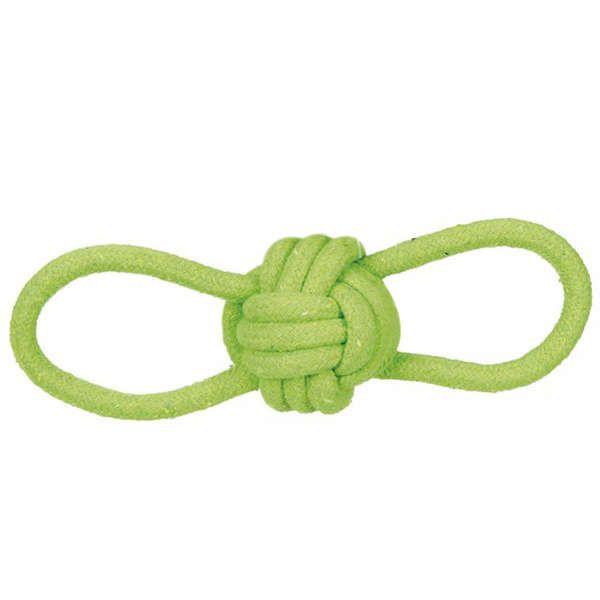 Brinquedos Para Cachorro Bola de Corda Com Alças Verde