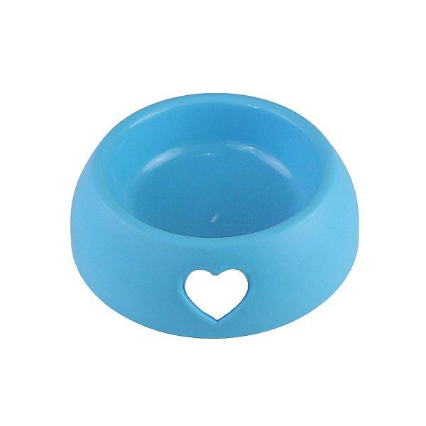 Comedouro e Bebedouro Coração Azul 250ml