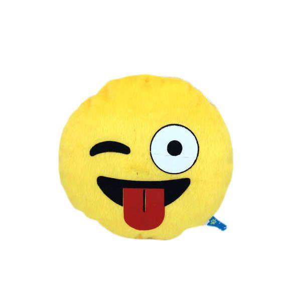 Brinquedos Para Cachorro Pelúcia Emoticon Linguá de Fora