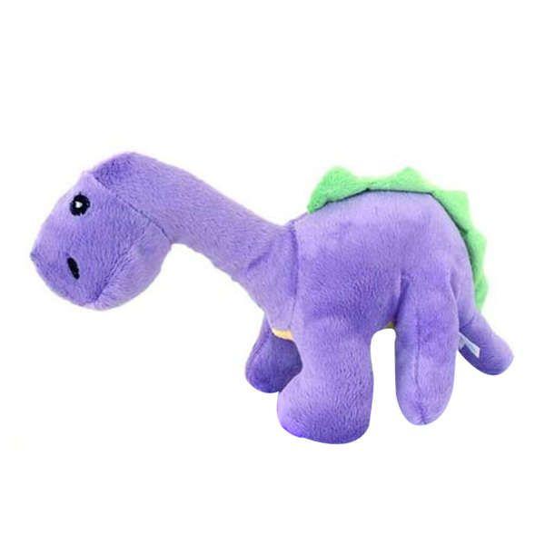 Brinquedo Para Cachorro Pelúcia Dino Roxo