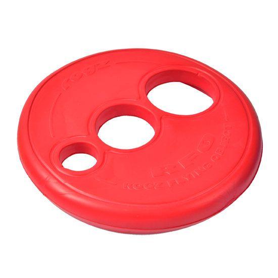 Brinquedo Para Cachorro Frisbee Rogz Vermelho