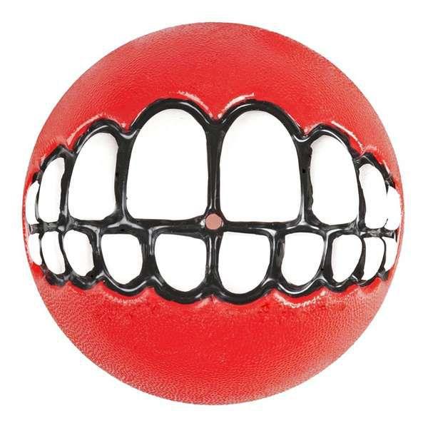 Brinquedo Para Cachorro Bola Sorriso Grinz Rogz Vermelho M
