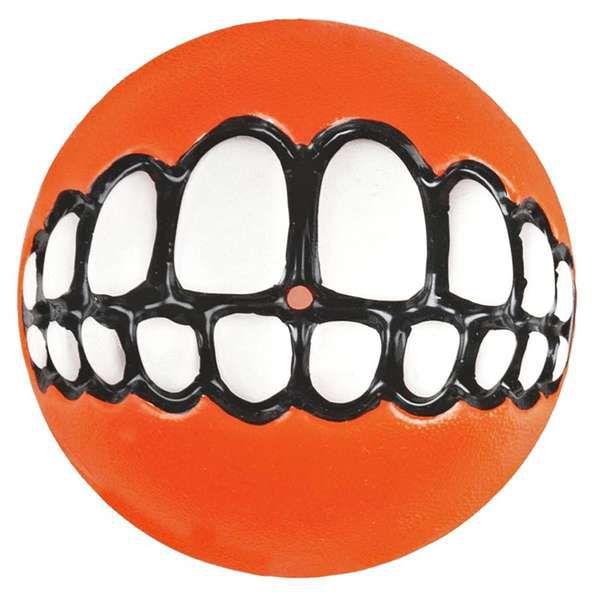 Brinquedo Para Cachorro Bola Sorriso Grinz Rogz Laranja M