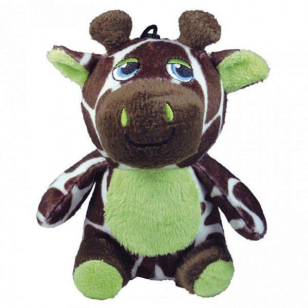 Brinquedo Para Cachorro Mordedor Pelúcia Safári Girafa