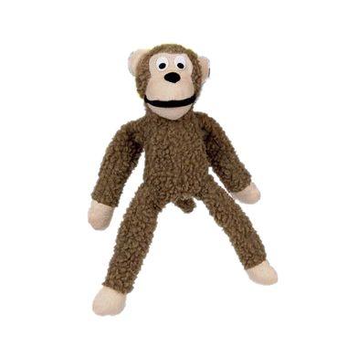 Brinquedo Para Cachorro Mordedor Pelúcia Macaco Bege