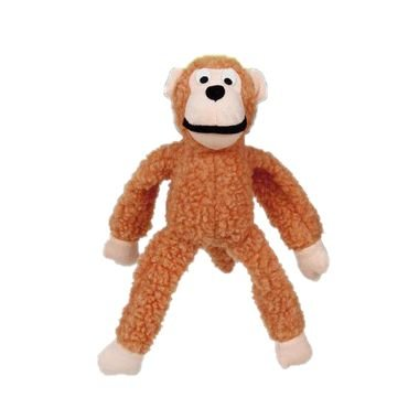 Brinquedo Para Cachorro Mordedor Pelúcia Macaco Laranja