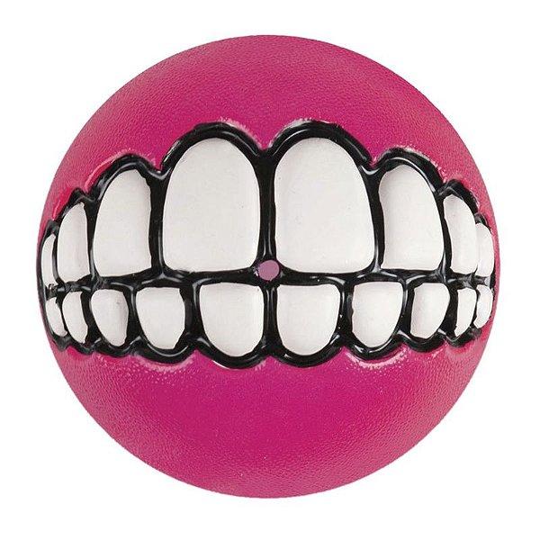 Brinquedo Para Cachorro Bola Sorriso Grinz Rogz Rosa M
