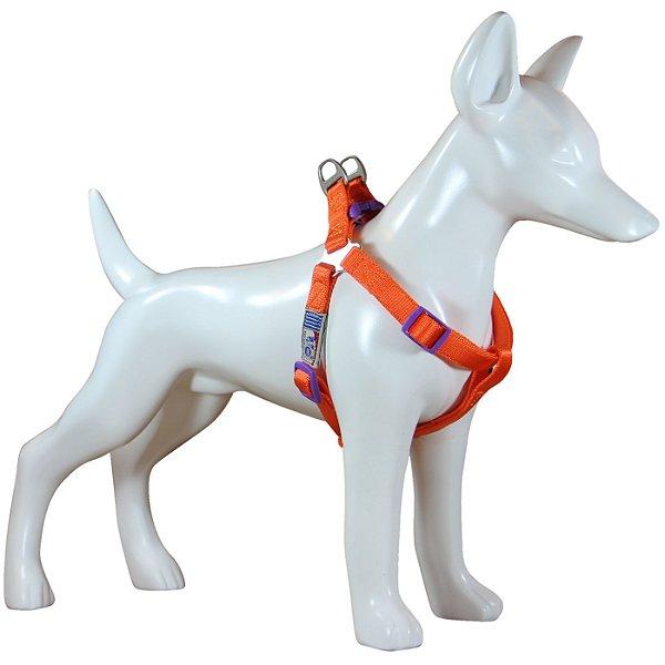 Peitoral Para Cachorro Au Neon Laranja