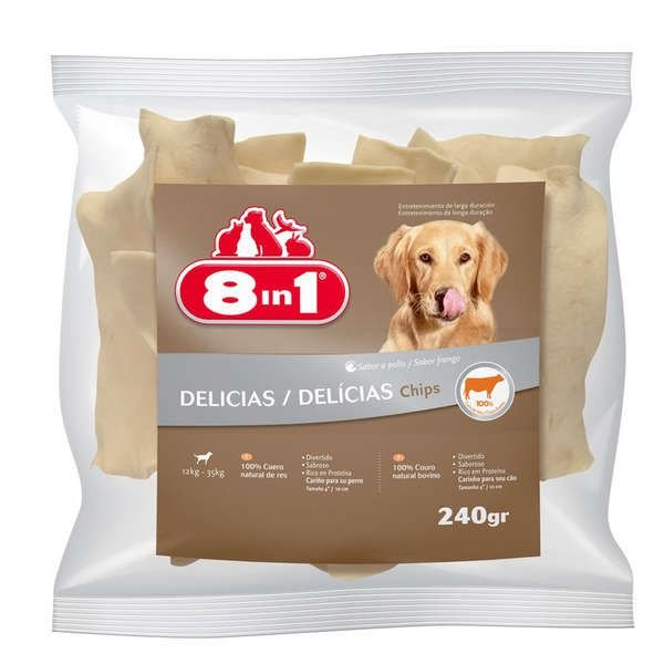 Osso Para Cachorro Petisco 8in1 Chips Frango