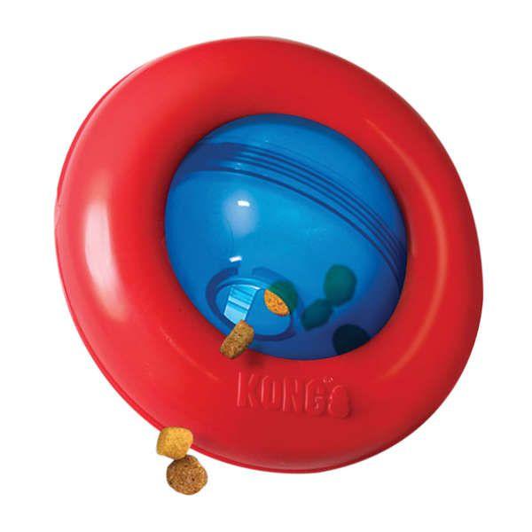 Brinquedo Para Cachorro Kong Interativo Puzzle Gyro