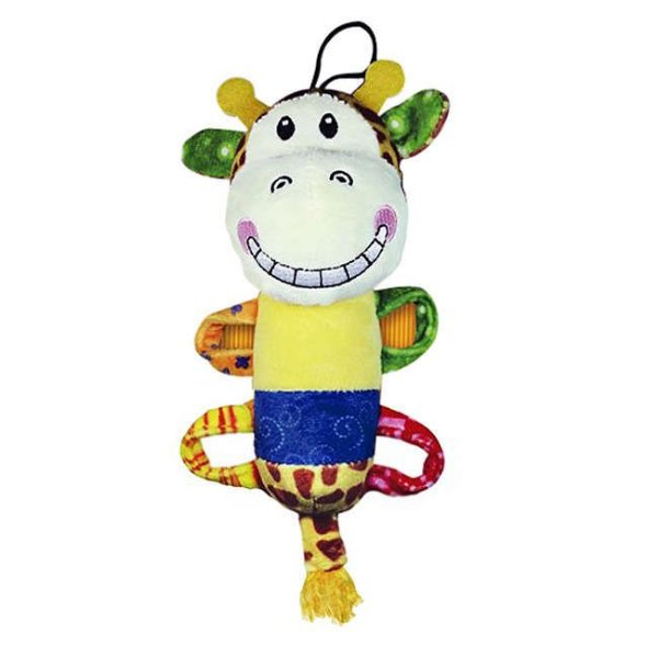 Brinquedo Para Cachorro Mordedor Pelúcia Plush Smile Girafe