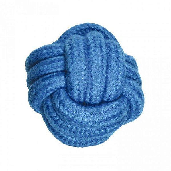 Brinquedos Para Cachorro Bola de Corda Azul
