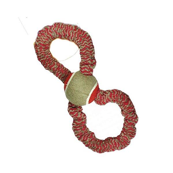 Brinquedo Para Cachorro Bola Tênis Com Corda Elástica 8 Plush Vermelho