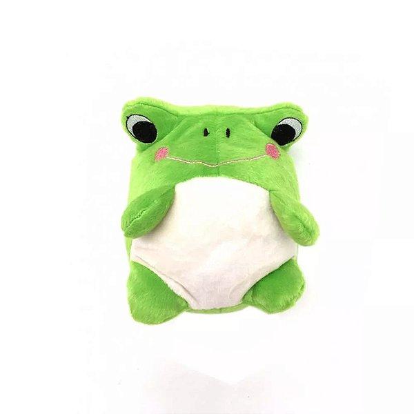 Brinquedo Para Cachorro Pelúcia Sapo Verde