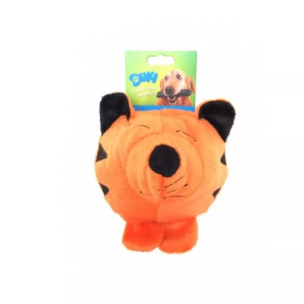 Brinquedo Para Cachorro Pelúcia Tigre