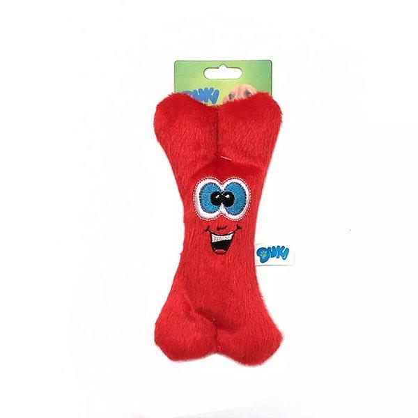 Brinquedo Para Cachorro Pelúcia Ossinho Vermelho Duki