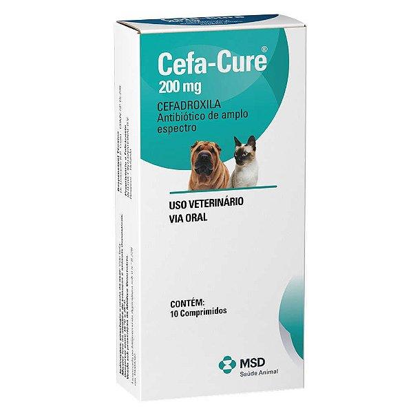 Antibiótico Para Cães e Gatos MSD Cefa Cure 200mg