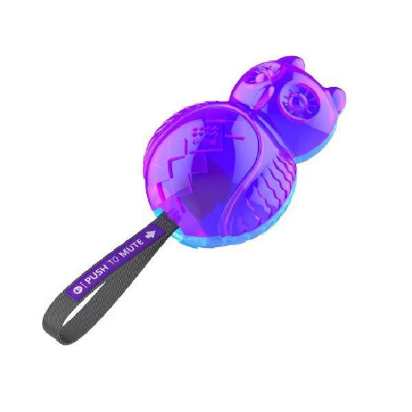 Brinquedos Para Cachorro Mordedor Gigwi Coruja Com Silenciador Azul e Roxa