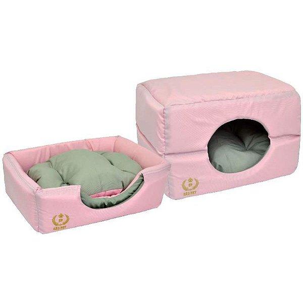 Cama Para Cachorro São Pet Túnel Rosa