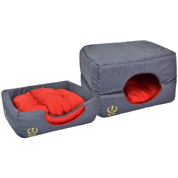Cama Para Cachorro São Pet Túnel Cinza