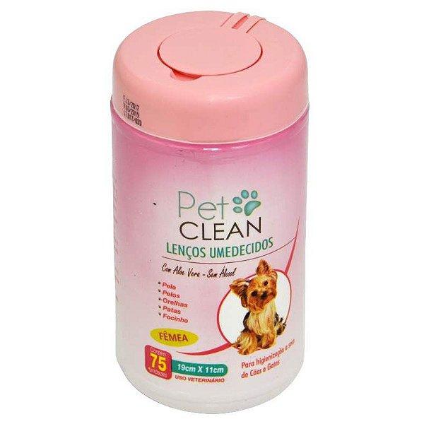 Lenços Umedecidos Para Pets Pet Clean Fêmea