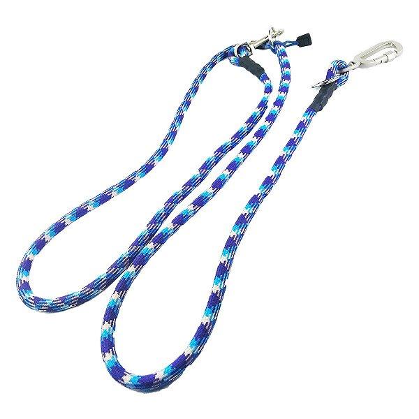 Guia Para Cachorro Mãos Livres Dog Helios Azul