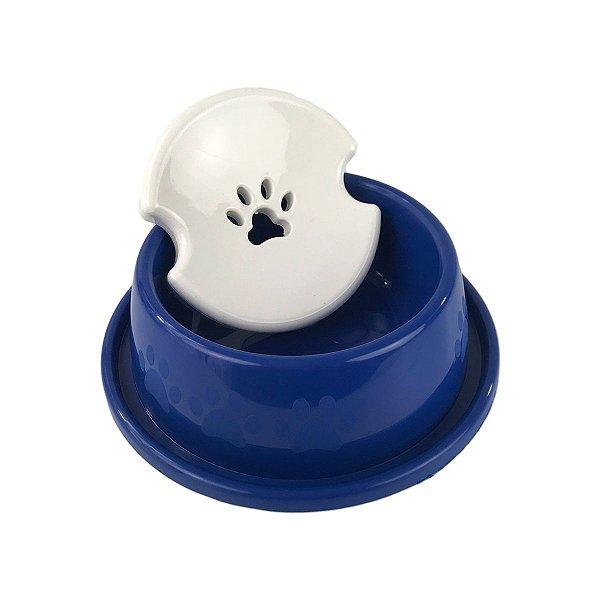 Bebedouro Para Cachorro Pelos Longos Paw Azul