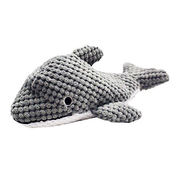 Brinquedos Para Cachorro Pelúcia PatchWork Pet Golfinho